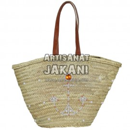 Beautiful basket made in Marrakech Ref:PN47
