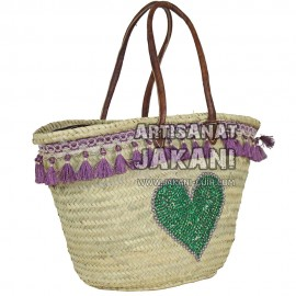 Moroccan Beach basket heart Ref:PN48