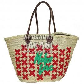 Multi-colored straw basket Ref:PN50