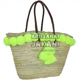 Tassel basket with long handle Ref:PN54