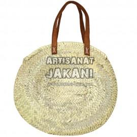 Moroccan round basket braid by hand Ref:PN58