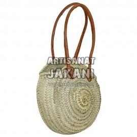 Moroccan round basket braid by hand Ref:PN62