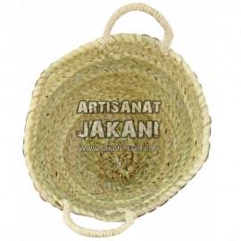 Moroccan multi-colored straw basket Ref:PN77
