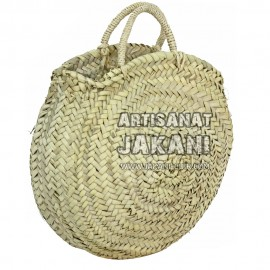 Round basket with sisal handles Ref:PN85