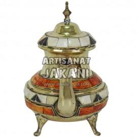 Théière en métal marocaine Réf:TH-00