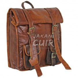 Hiking Moroccan Leather Backpack Ref:S57