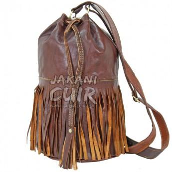 sac à dos femme marocain, sac en cuir marron