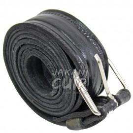 Ceinture en cuir de vachette noire Réf:TAB3C
