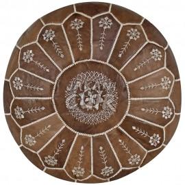 Pouf marocain cousu à la main Réf:PSCB3-1