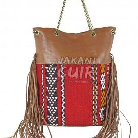 Sac Femme En Cuir Marocain Vintage Réf:A43A