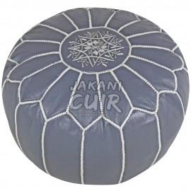 Pouf En Cuir Marocain Artisanal Moderne