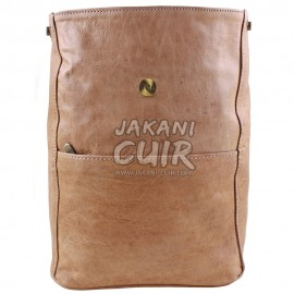Moroccan leather backpack (women)