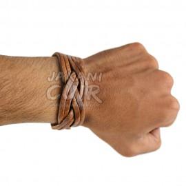 Bracelet En Cuir Marocain artisanal Réf:BR11A