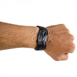 Bracelet En Cuir Marocain artisanal Réf:BR10B