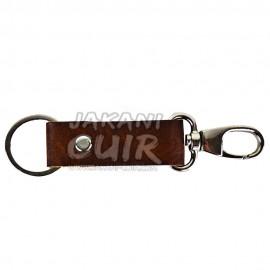 Porte-clé personnalisé en cuir marocain Réf:PR1