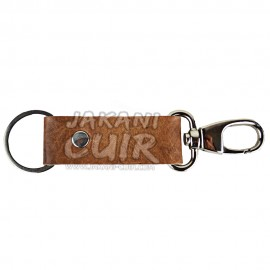 Handmade moroccan leather keychain Ref:PR1A