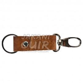 Porte-clé personnalisé en cuir marocain Réf:PR1A