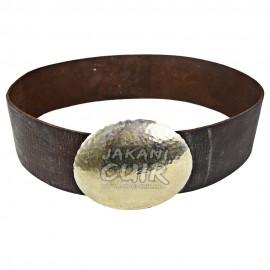 Large ceinture en cuir rond boucle Réf:CFLB