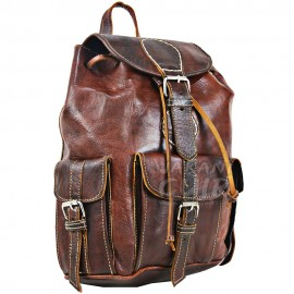 Moroccan Goat Leather Backpack Ref:M9