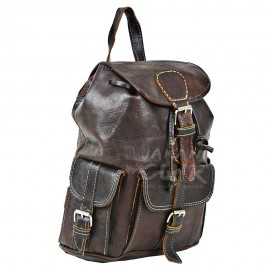Moroccan Goat Leather Backpack Ref:M9B