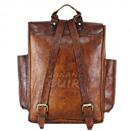 Moroccan Backpack In Natural Leather Ref:S60