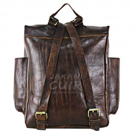 Moroccan Backpack In Natural Leather Ref:S60B