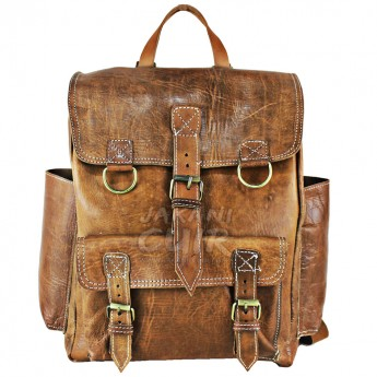 Moroccan Backpack In Natural Leather Ref:S60A