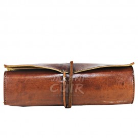 Trousse à outils En cuir marocain dépliante Réf: P70