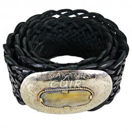 Ceinture artisanale en cuir pour femme Réf:CLC