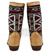 Moroccan leather kilim boots Ref:	B32A