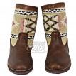Moroccan leather kilim boots Ref:B32B