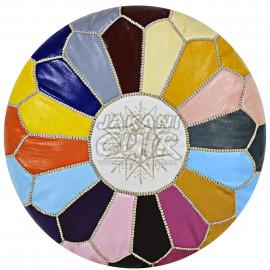 Pouf cuir marocain