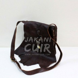morrocan leather shoulder bag