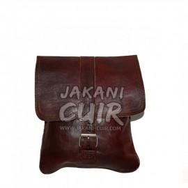 Besace petit format cuir vintage