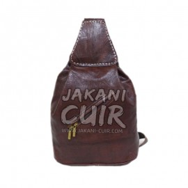Moroccan leather backpack