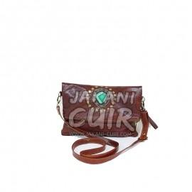 sac pochette femme en cuir maroacin