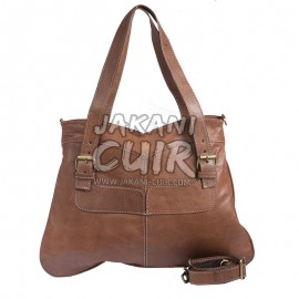Moroccan natural  leather handbag