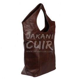 Leather brown women bag