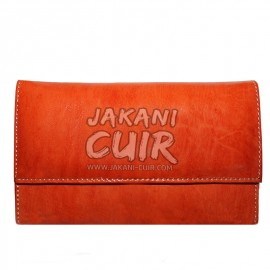 Moroccan leather wallet for women