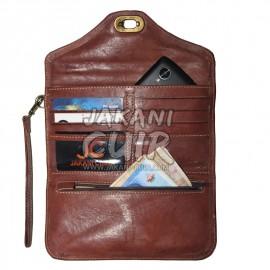 portefeuille en cuir marocain