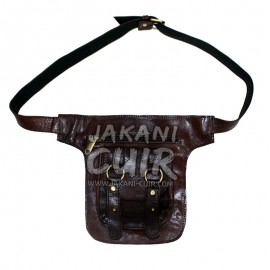 Goat leather banana bag