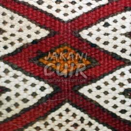 Vintage Moroccan kilim square pouf Ref:PK1-60
