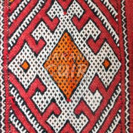 Pouf marocain kilim carré vintage Réf:PK1-60
