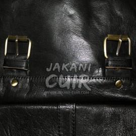 hiking leather backpack