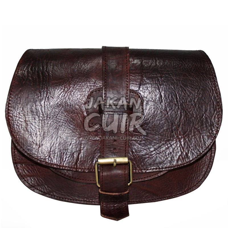 Moroccan Leather Round Bag Ref E31