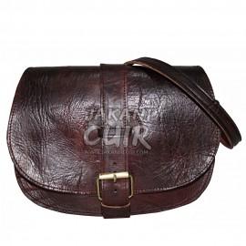 Moroccan Leather Round Bag Ref:E31
