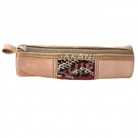 Vintage Moroccan Leather Pencil case