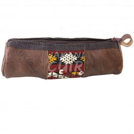 Vintage Moroccan Leather Pencil case Ref:AZ1