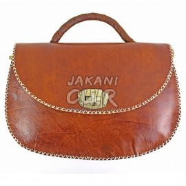 morrocan classic brown leather bag