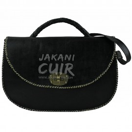 morrocan classic black  leather bag